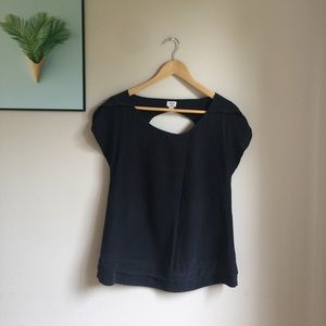 Wilfred 100% Silk top w/ circular open at back